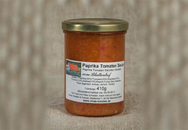 Paprika-Tomaten Sauce pikant