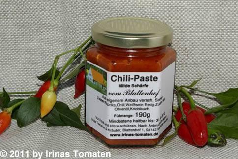Chili-Paste milde Schärfe