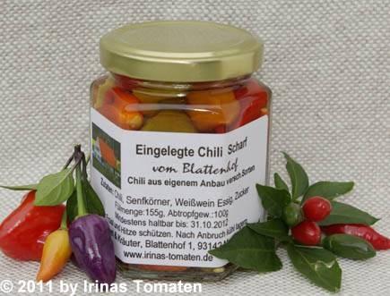 Eingelegte Chili scharf