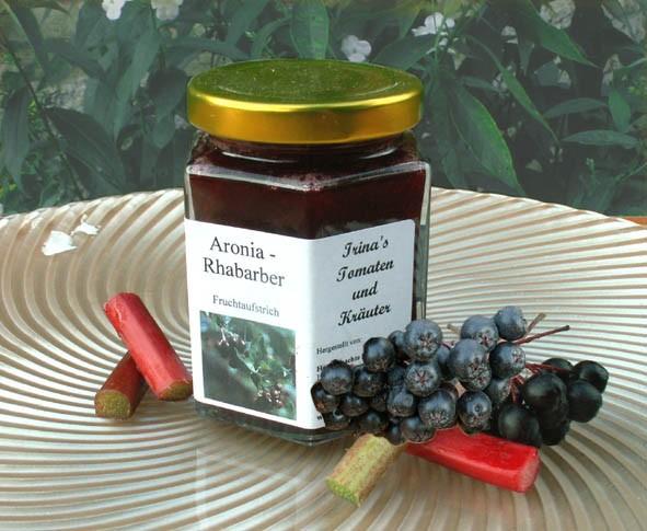 Aronia Rhabarber Fruchtaufstrich