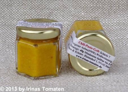 Zwergenglas Chili-Paste gelb