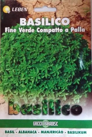 Basilikum Fine Verde Compatto a Palla