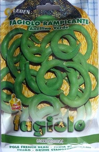 Stangenbohne Anellino verde (Grünes Ringelchen)