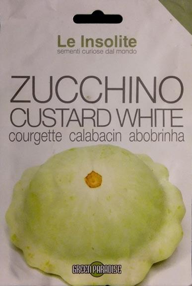 Patissone, Ufo-Kürbis, Zucchini Custard white